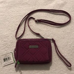 NWT! Vera Bradley On the Square Wristlet 2.0 Plum